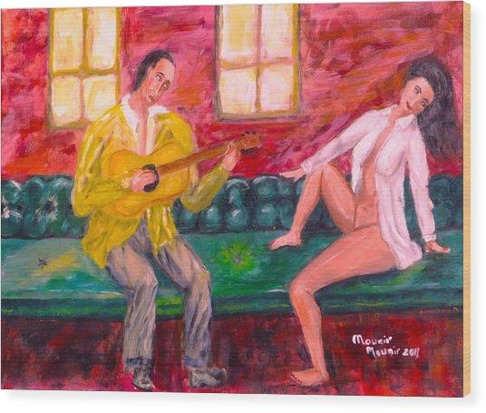 Night Serenade Wood Print by Mounir Mounir