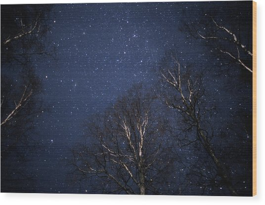 Night Sky Wood Print by Pekka Parviainen/science Photo Library