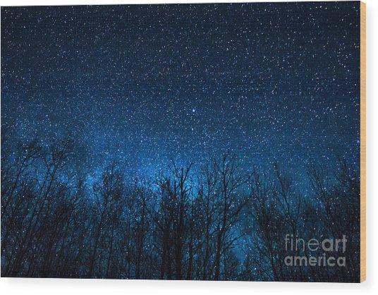 Night Stars Wood Print