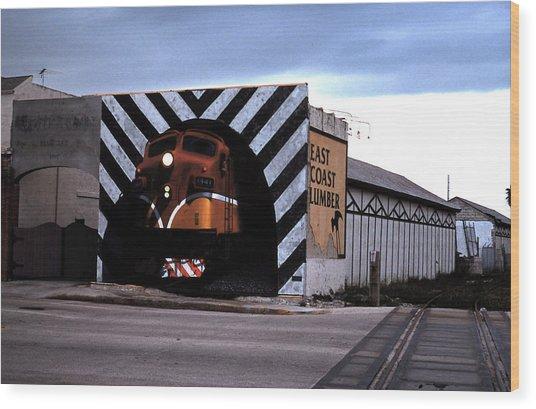 Night Train Wood Print