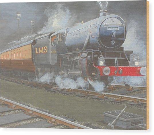 Night Train Wood Print by James Lawler
