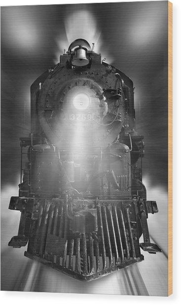 Night Train On The Move Wood Print