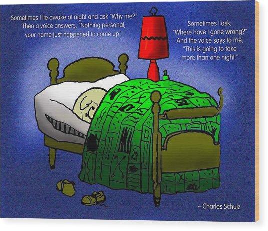 Night Worries Wood Print by Mike Flynn