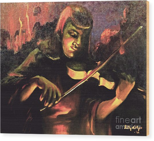 Nightclub Violinist - 1940s Wood Print