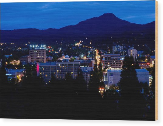 Nightfall Over Eugene Wood Print