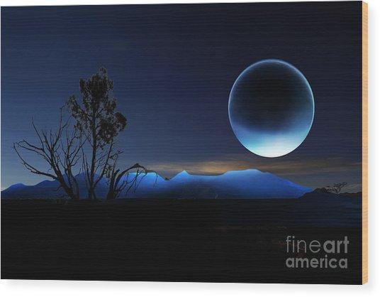 Nightrise Wood Print