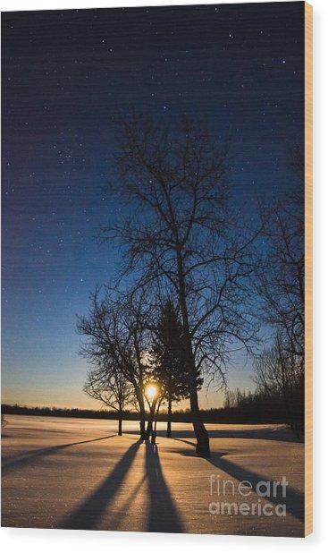 Night's Shadows Wood Print