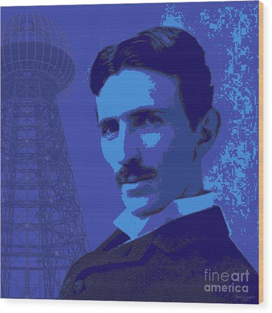 Nikola Tesla #2 Wood Print