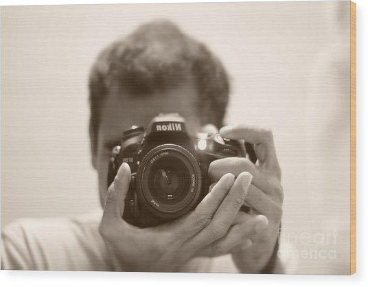 Nikon D7100 Wood Print by Bobby Mandal