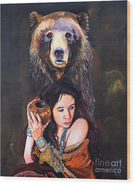 Nine Stars Woman - Bear Medicine Wood Print