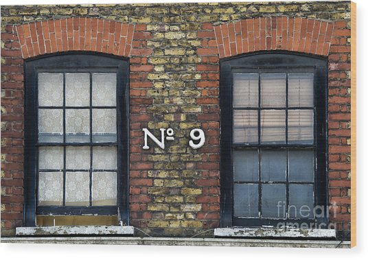 Nine  Wood Print by Tim Gainey