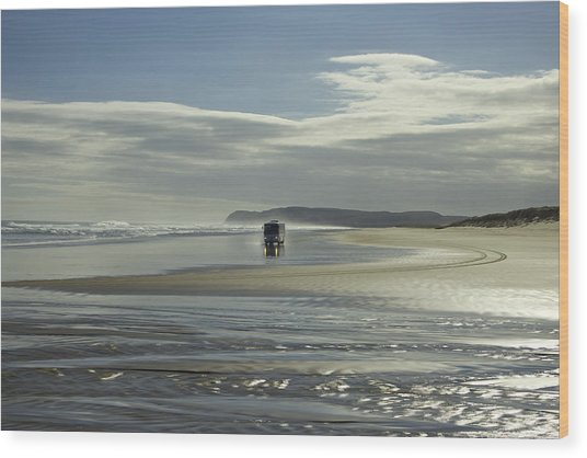 Ninety Mile Beach New Zealand Wood Print