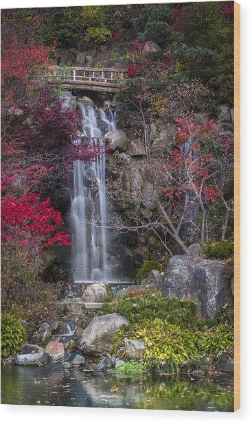 Nishi No Taki Wood Print