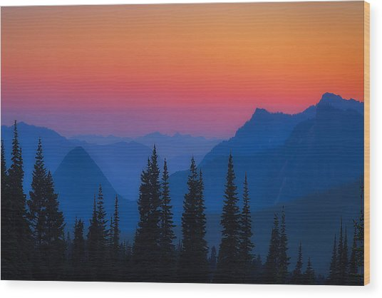 Nisqually Rainbow Wood Print