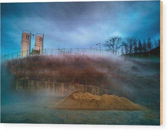 Nitrogen Fog Wood Print