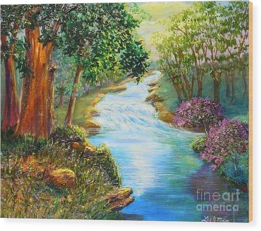 Nixon's A Luminous View Of The Rapidan River Wood Print