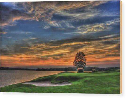 No Better Day Golf Landscape Art Wood Print