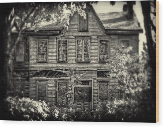 No One's Home Wood Print