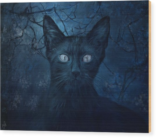 No Place For Scaredy Cats Wood Print by Hazel Billingsley