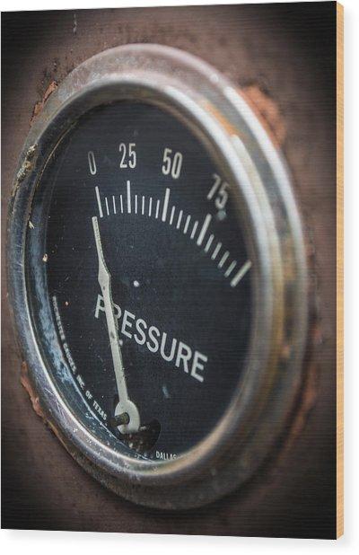 No Pressure Wood Print