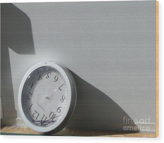 No Time Wood Print