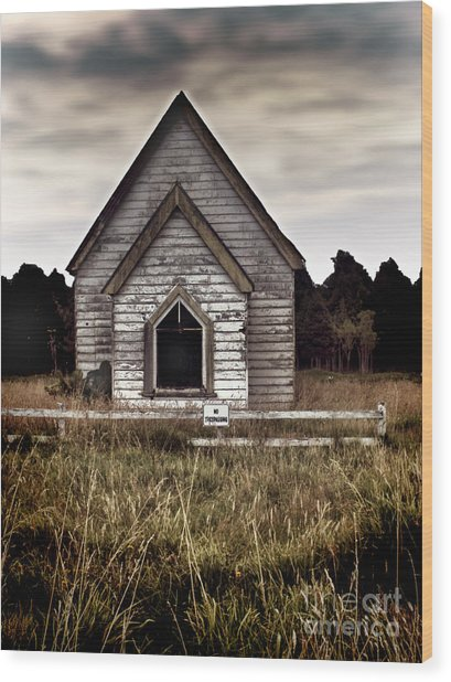 No Trespassing Wood Print