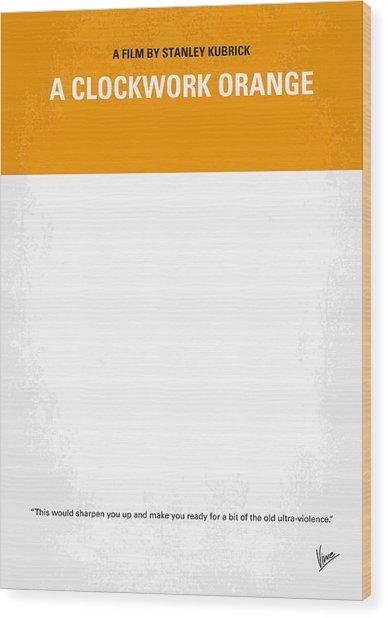 No002 My A Clockwork Orange Minimal Movie Poster Wood Print