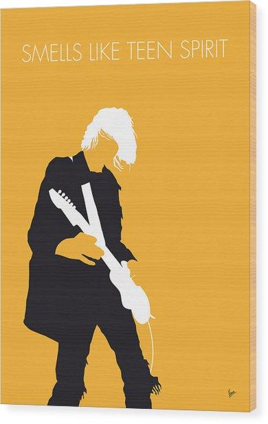 No004 My Nirvana Minimal Music Poster Wood Print