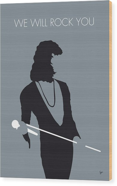 No027 My Queen Minimal Music Poster Wood Print