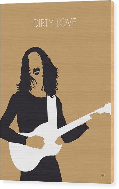 No040 My Frank Zappa Minimal Music Poster Wood Print