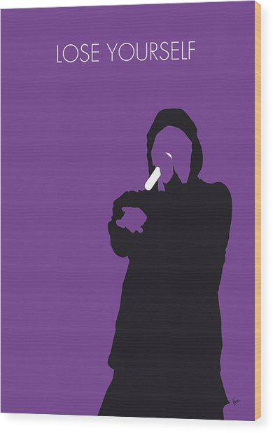 No041 My Eminem Minimal Music Poster Wood Print