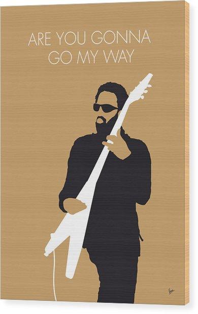 No050 My Lenny Kravitz Minimal Music Poster Wood Print