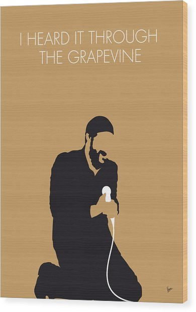 No060 My Marvin Gaye Minimal Music Poster Wood Print