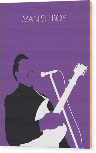 No061 My Muddy Waters Minimal Music Poster Wood Print