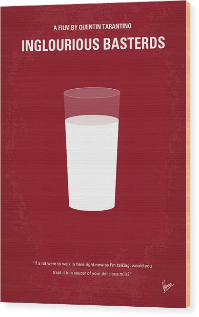 No138 My Inglourious Basterds Minimal Movie Poster Wood Print