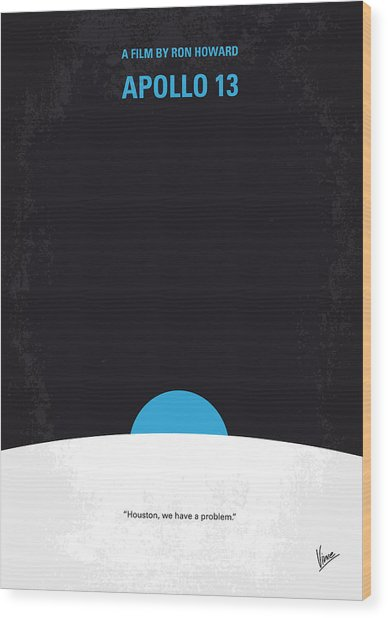 No151 My Apollo 13 Minimal Movie Poster Wood Print