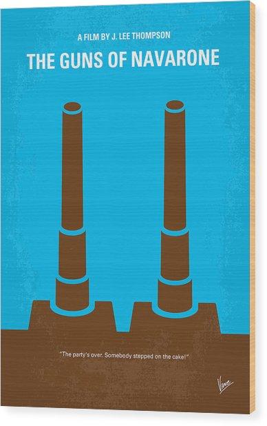 No168 My The Guns Of Navarone Minimal Movie Poster Wood Print