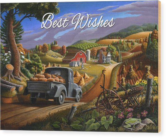 no17 Best Wishes Wood Print by Walt Curlee