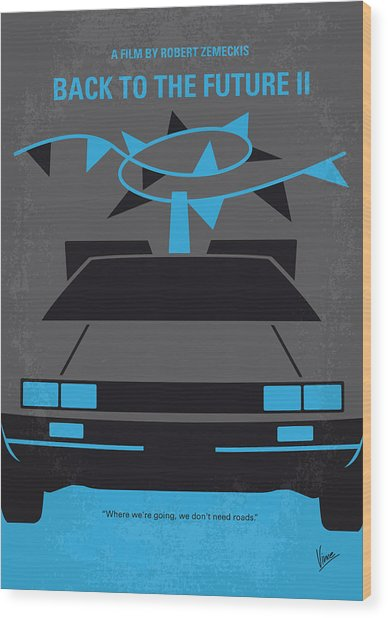 No183 My Back To The Future Minimal Movie Poster-part II Wood Print