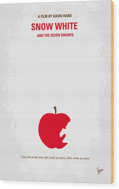 No252 My Snow White Minimal Movie Poster Wood Print