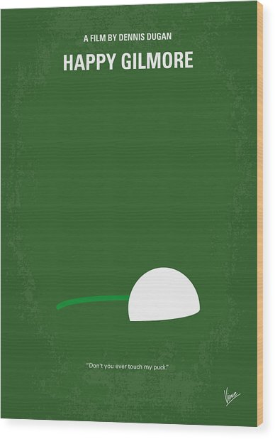 No256 My Happy Gilmore Minimal Movie Poster Wood Print