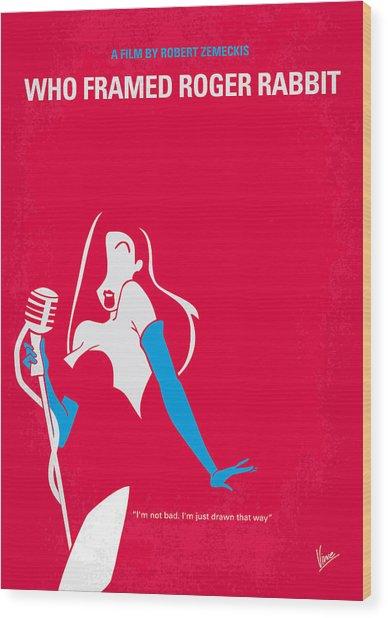 No271 My Roger Rabbit Minimal Movie Poster Wood Print
