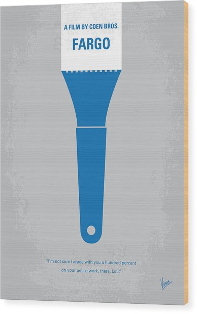 No283 My Fargo Minimal Movie Poster Wood Print