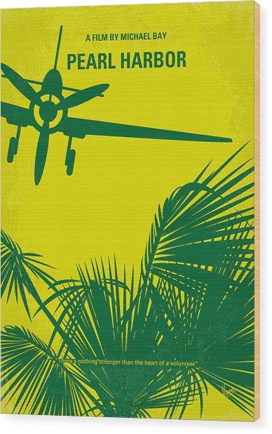 No335 My Pearl Harbor Minimal Movie Poster Wood Print
