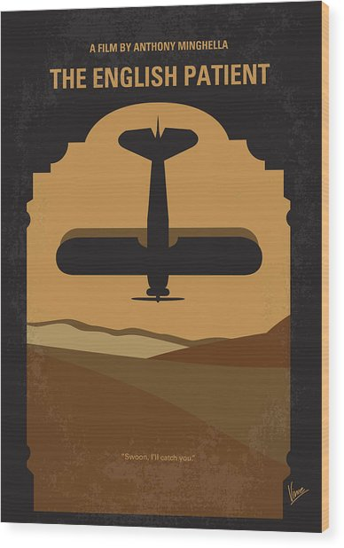 No361 My The English Patient Minimal Movie Poster Wood Print