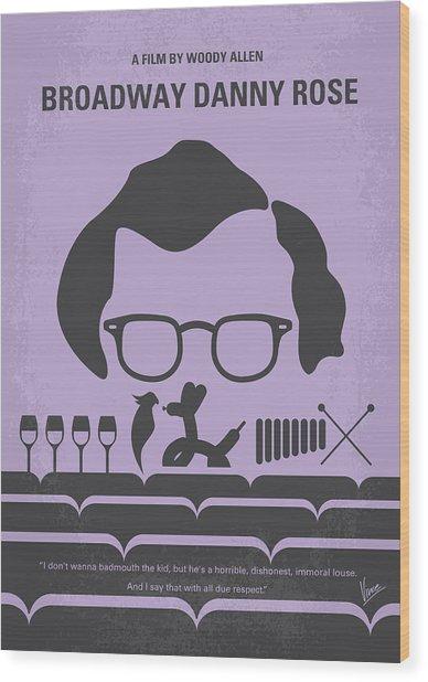 No363 My Broadway Danny Rose Minimal Movie Poster Wood Print