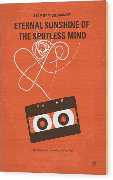 No384 My Eternal Sunshine Of The Spotless Mind Minimal Movie Pos Wood Print