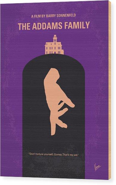 No423 My The Addams Family Minimal Movie Poster Wood Print