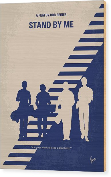 No429 My Stand By Me Minimal Movie Poster Wood Print