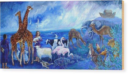 Noahs Ark - After The Flood  Wood Print